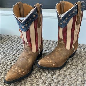 Dan Post Stars and Stripes leather boots 7.5